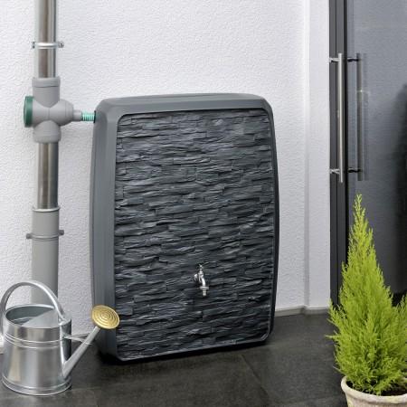 regentonne eckig wandtank concrete betongrau 200 liter. Black Bedroom Furniture Sets. Home Design Ideas