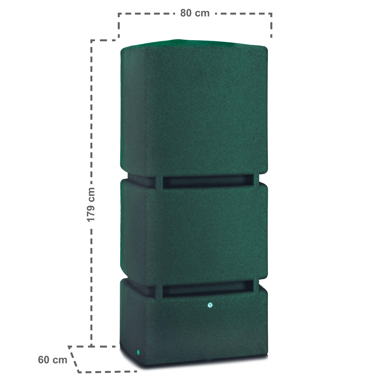 regenwassertank oberirdisch jumbo 800 l gr n. Black Bedroom Furniture Sets. Home Design Ideas