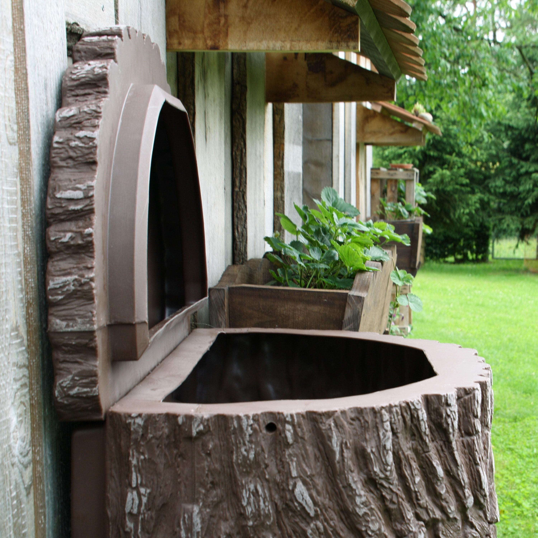 regenwassertonne wassertonne evergreen lite 300 liter dunkelbraun. Black Bedroom Furniture Sets. Home Design Ideas