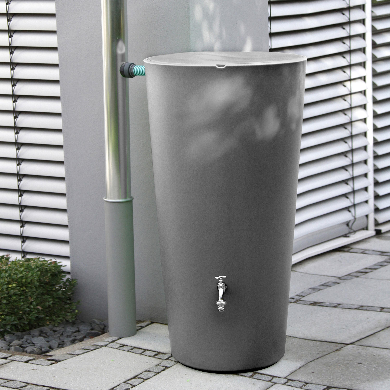 regenspeicher rainbowl 210 liter anthrazit. Black Bedroom Furniture Sets. Home Design Ideas