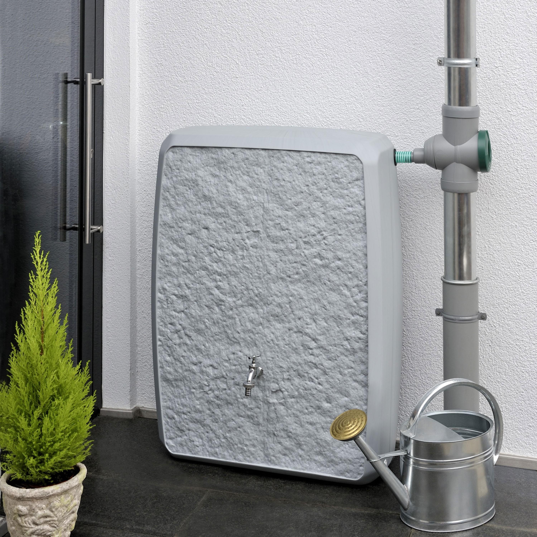 regentonne eckig wandtank multitank 250 liter grau. Black Bedroom Furniture Sets. Home Design Ideas