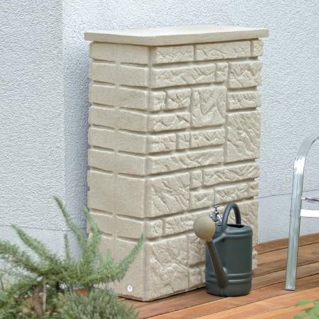 regentonnen montana 225 l sandstein. Black Bedroom Furniture Sets. Home Design Ideas