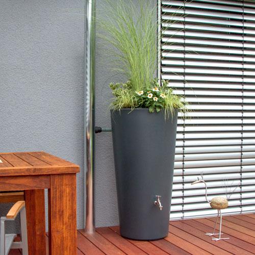 Regentonne regenfass und regenwassertonne online kaufen for Feuerstelle garten mit pflanzkübel eckig anthrazit